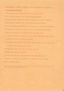 Flugblatt des Fluxus-Festivals der Neuen Kunst von Wolf Vostell