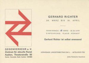 Einladung zur Ausstellungseröffnung von Gerhard Richter im Gegenverkehr e.V.