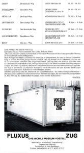 Flugblatt zur Wolf Vostells Fluxus-Zug in Aachen, 1981
