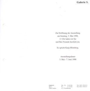 Einladung zur Ausstellungseröffnung mit Arbeiten von Peter Lacroix und Wolfgang Nestler in der Galerie S