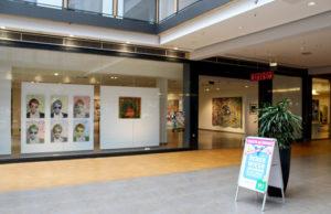 Ladenlokal des Kunstwechsels in den Aachen Arkaden, August 2016